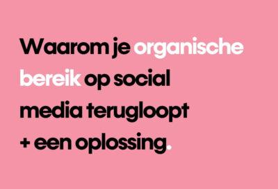 Blog organisch bereik